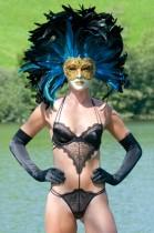 Dessous, Outdoor Fotoshooting, Venezianische Maske