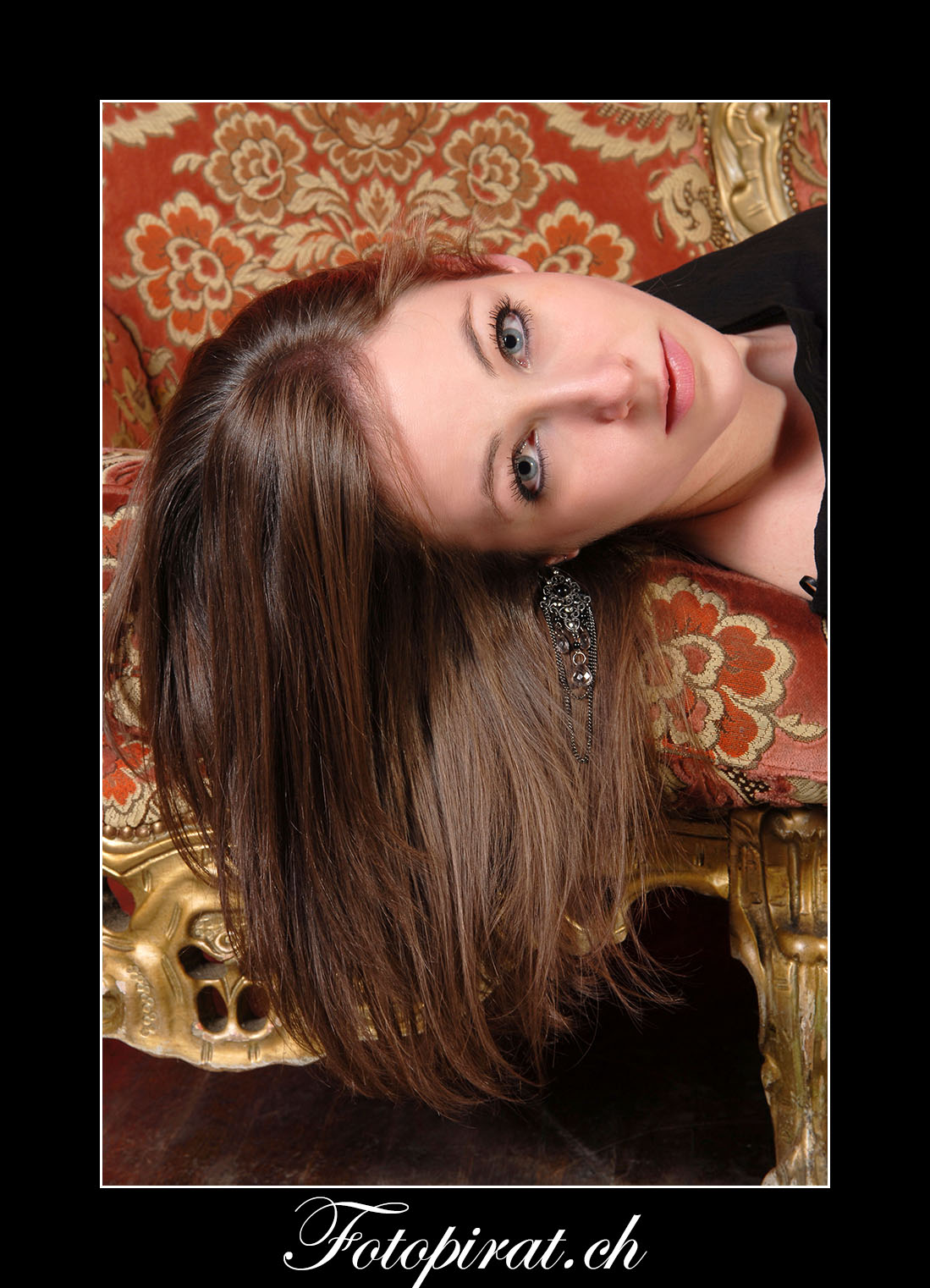 Fotoshooting, On Location, schöne Augen, Modelagentur, Barock, Fotomodel