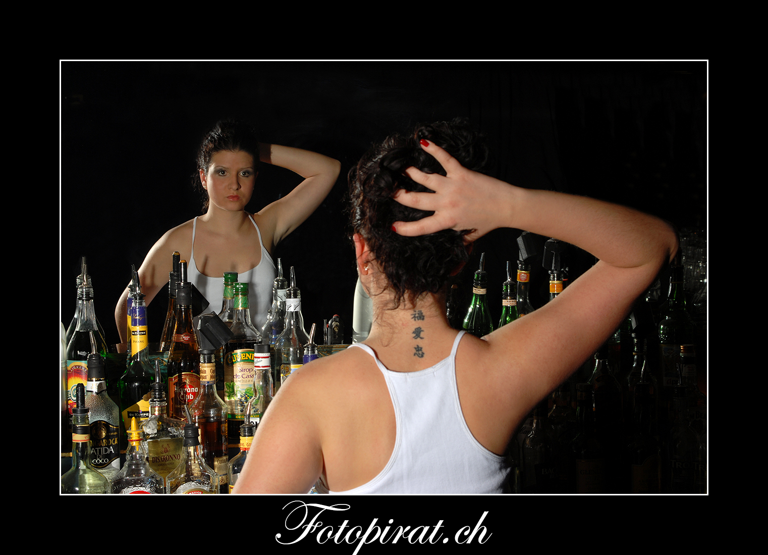 Fotoshooting, On Location, Spiegel, Modelagentur, Fotomodel,