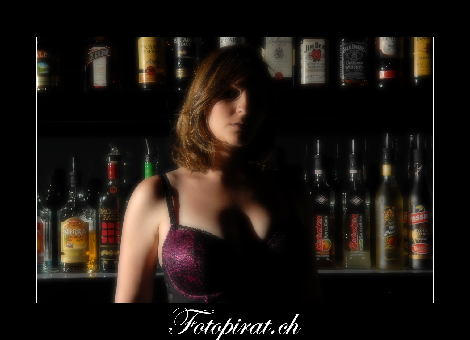 Fotoshooting, On Location, Korsage, Modelagentur, Fotomodel, Bar, blond, Dessous