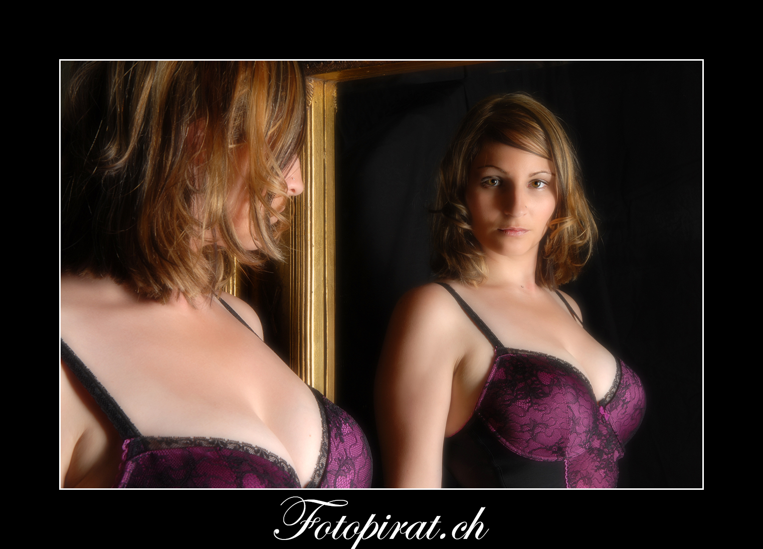 Fotoshooting, On Location, eyecatcher, Modelagentur, Sportmodel, Spiegel, Dessous, Fotomodel